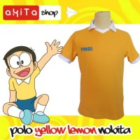 Baju Polo Yellow Lemon  Anime Jepang Nobita Doraemon