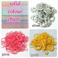 Refill rainbow loom - New solid color isi 600pcs