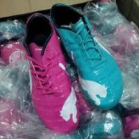 Sepatu Bola Puma Evopower Hijau Pink