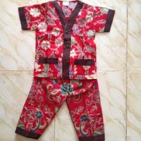 Baju Setelan Batik Bati Pendek - Panjang Warna