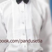 PO Kemeja Tuxedo Mewah Shirt Putih Baju Pria Laki Laki