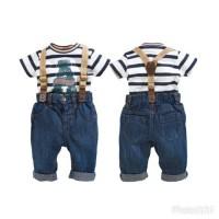 Next Kids Stripe with suspender / Baju anak laki laki / Jeans anak
