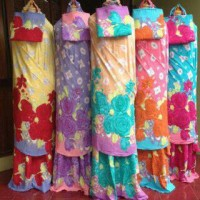 mukena bali motif bunga