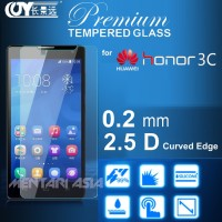 Tempered Glass Screen Protector for HONOR 3C : PREMIUM 0.2mm, 9H, 2.5D