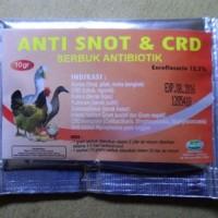 ANTI SNOT & CRD Serbuk Antibiotik Untuk Ayam Dan Bebek 10 gr