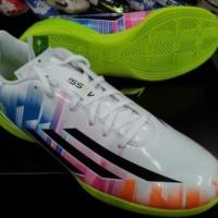 Sepatu Futsal Adidas F5 Messi Putih Lime