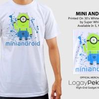 Kaos Android T-Shirt Mini Android  - LogayPektay Design - Baju Minion