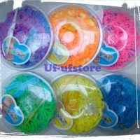 Refill Rainbow Loom DIY - 1 warna isi 175