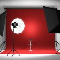 Background Photo foto polos warna merah dan warna hitam ukuran + - 2.5 x 2.5 meter
