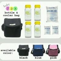 Tas|Simpan|Pendingin|Pengawet|Botol|Asi|Susu|Kado|Bayi|Cooler|Bag|Baby - HITAM