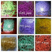 rubber band rainbow loom solid isi 200 pcs
