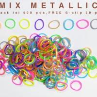 Refill rainbow loom - Mix metallic isi 600pcs