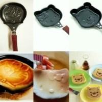 Wajan Teflon Frying Pan Mini Telur, Pancake, Puding Anti Lengket Karakter Hello Kitty HK Doraemon Pooh Karakter anak kids panci