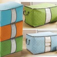 Storage Box Warna - Organizer pakaian , selimut , bed cover , sprei , dll ( Ready warna Biru , hijau , Orange )