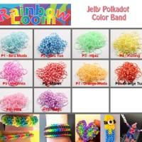 Rainbow Loom Refill - Loom Band Refill - Jelly Polkadot
