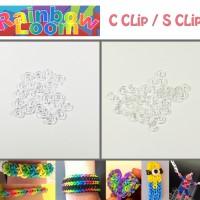 Rainbow Loom - Loom Band - S CLip / C Clips