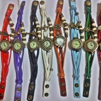 Jam Tangan Gelang Vintage Tribal Indian kepang Lilit Braid