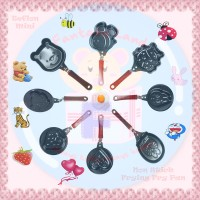 Mini Frying Pan Wajan Teflon Telur Pancake Karakter Hello Kitty Doraemon Pooh dll