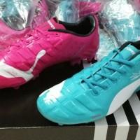 Sepatu Bola Puma Evopower Biru Pink