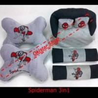 Bantal Mobil Spiderman 3in1