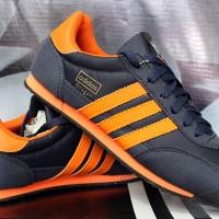 Sepatu Casual Adidas Dragon Dongker Strip Orange