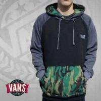 jaket cowok distro vans army hoodie