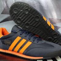 Sepatu Cassual / Running / Olahraga Adidas Dragon Dongker Strip Orange