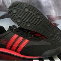 Sepatu Cassual / Running / Olahraga Adidas Dragon Hitam Strip Merah