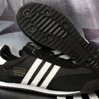 Sepatu Cassual / Running / Olahraga Adidas Dragon Hitam Strip Putih
