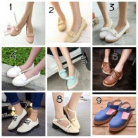 sepatu docmart murah flatshoes wedges wanita