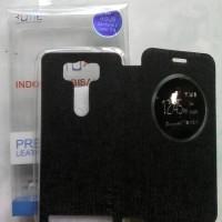 leather case flip cover view asus zenfone 2 laser 5.0 inc ume original