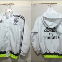 JAKET PARASUT REAL MADRID WHITE 2015