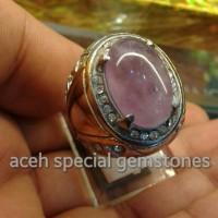 cincin batu kecubung amethyst size kantoran