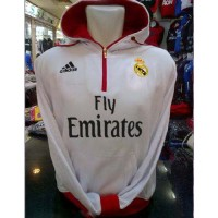 JAKET DISTRO BOLA ADIDAS REAL MADRID PUTIH