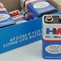 Baterai 9v / Battery 9 Volt / Baterai kotak Merk HW ( HI-Watt )