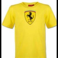 tshirt/t-shirt/kaos ferrari (yellow)