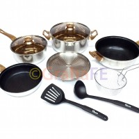 Oxone Panci Wajan Set Stainless Steel - Basic Cookware Set OX-911
