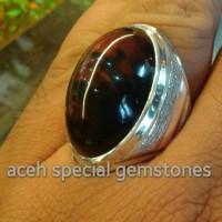 cincin batu akik kecubung tanduk TUMPAH DARAH