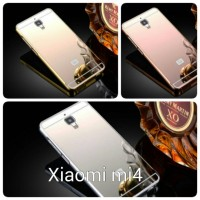 CASE XIAOMI MI4. Aluminium bumper + pc mirror backcover