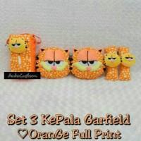 Bantak Mobil 3 in 1 Kepala GARFIELD Love Orange Full Print