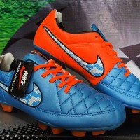 Sepatu Bola Nike Tiempo Hypershield Biru Orange Grade Ori (Adidas)