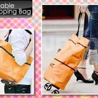 Tas Belanja Lipat Roda / Trolley Cart Shopping Bag Foldable