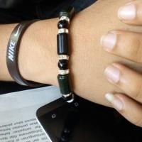 gelang black jade kombinasi manik2,bahan super