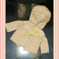 Baju Mantel Poncho / Jaket Tudung Bayi Rajutan