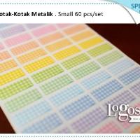 Kotak Small. Special edition. Sticker polos label nama anak waterproof