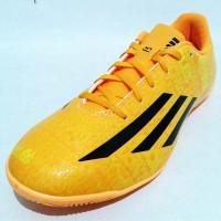 Sepatu Futsal Adidas F5 IN Messi M17666 Soft Gold Black