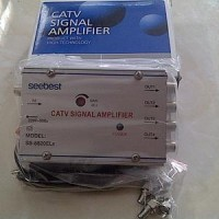 Splitter Booster antena 4way/ 4w/ CATV Signal Amplifier