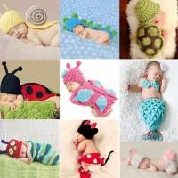 newborn baby photo costume/ kostum bayi /photo booth yellow snail