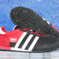 Sepatu Casual Adidas Dragon Merah Hitam  Murah