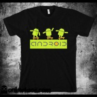 tshirt/t shirt/kaos android (black)